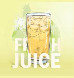 summer fresh juice cocktail vector image
