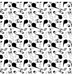 surrealism stylized seamless pattern vector image