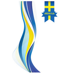 sweden abstract flag background vector image