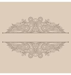vintage ornamental template vector image