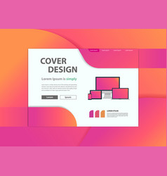 Web development website banner minimal geometric vector