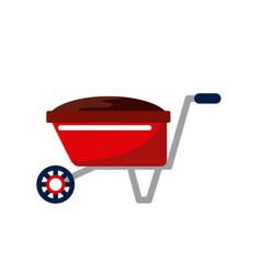 Wheelbarrow icon image vector