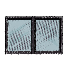 Windows house glass icon vector