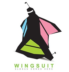 Wingsuit base logo vector