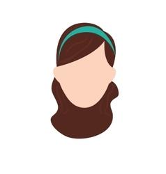 Woman sport headband vector