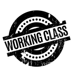 Working class rubber stamp vector