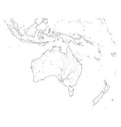 World map australasia region australia oceania vector