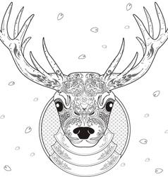 deer line art vector image vector image