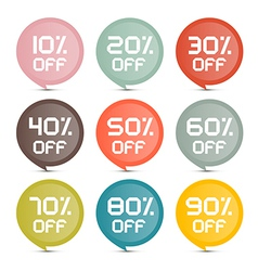 Flat Design Discount Colorful Stickers - Labels vector image vector image