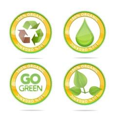 nature eco emblems vector image