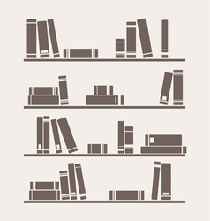 Simply retro books library on the shelf vector image vector image