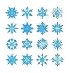 Snowflake blue vector image vector image