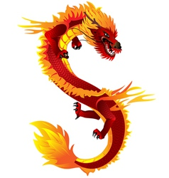 dragon full color vector image