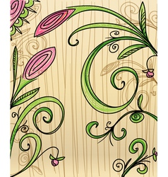 Hand-drawn floral background vector image