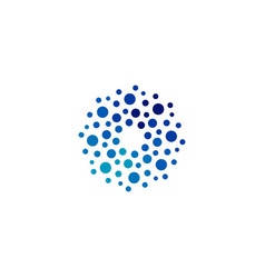 isolated abstract round shape blue color logo vector image vector image