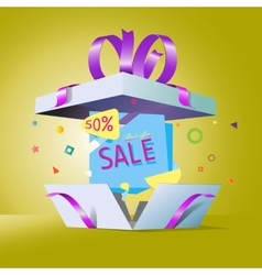 Special offer in a gift box vector image vector image