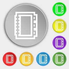 Book icon sign Symbol on eight flat buttons vector image vector image