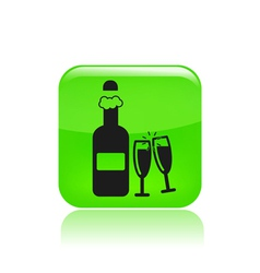 bottle party icon vector image vector image