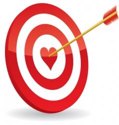 target love vector image