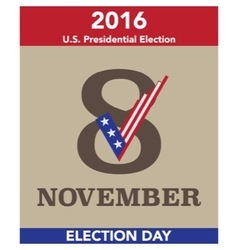 2016 US Election Day Concept vector image