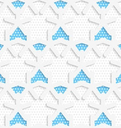 Blue 3d shapes layered with blue pattern vector image vector image