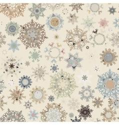 Christmas pattern snowflake EPS 8 vector image vector image