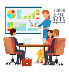 corporate business meeting woman manager vector image