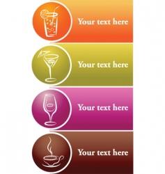 drinks label vector image