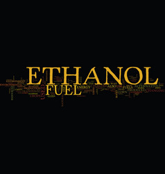 ethanol as an alternative text background word vector image