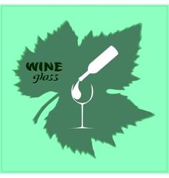 Logo-bottle vector image