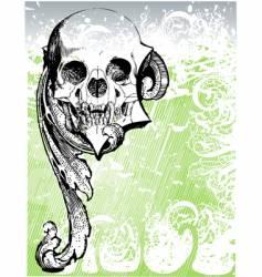 vampire heraldic skull illustration vector image
