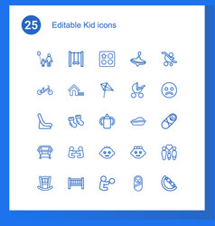 25 kid icons vector