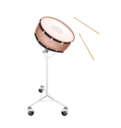 A Beautiful Snare Drum on White Background vector