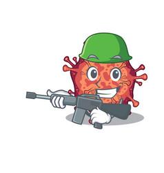 A picture contagious corona virus as an army vector