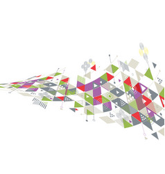 Abstract creative geometrical with mix geometric vector