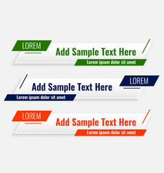 abstract modern lower third geometric banners vector image