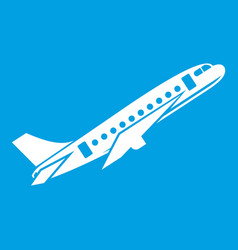 Aircraft icon white vector
