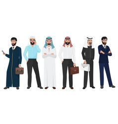 Arabic business man people muslim arab office vector