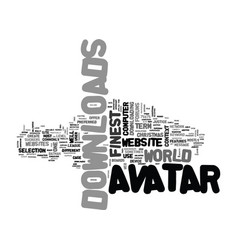 Avatar downloads text word cloud concept vector