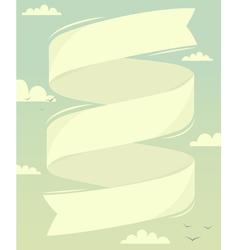 Banner in sky vector image