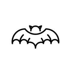 Bat Vampire Halloween Icon vector image