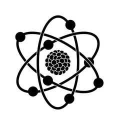 Black silhouette of atom structure vector