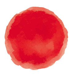 Bright red watercolor painted stain vector