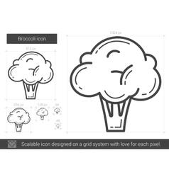 Broccoli line icon vector image