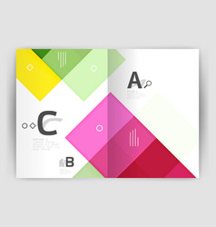 Business a4 business brochure geometrical template vector