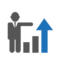 Business growth progress or success concept vector