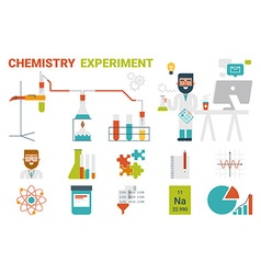 Chemistry experiment concept vector