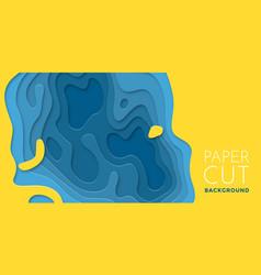 color layers paper 3d papercut multi paper cut vector image
