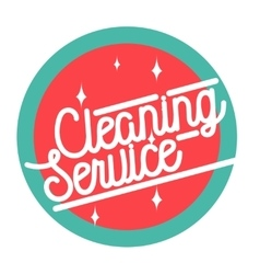 Color vintage cleaning service emblem vector image