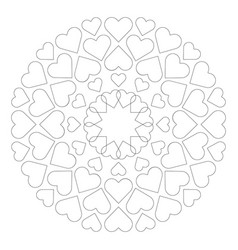 colored circular round loving cute mandala vector image